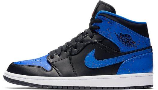 Air Jordan 1 Mid Black Signal Blue 籃球鞋/運動鞋 (554724-048) 海外預訂
