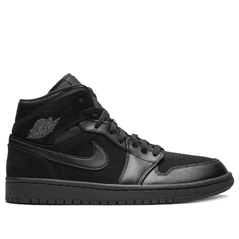 Air Jordan 1 Mid Black 籃球鞋/運動鞋 (554724-050) 海外預訂