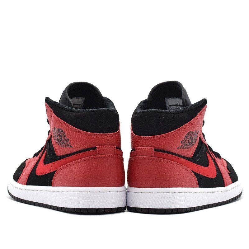 Air Jordan 1 Mid Black Gym Red 籃球鞋/運動鞋 (554724-054) 海外預訂