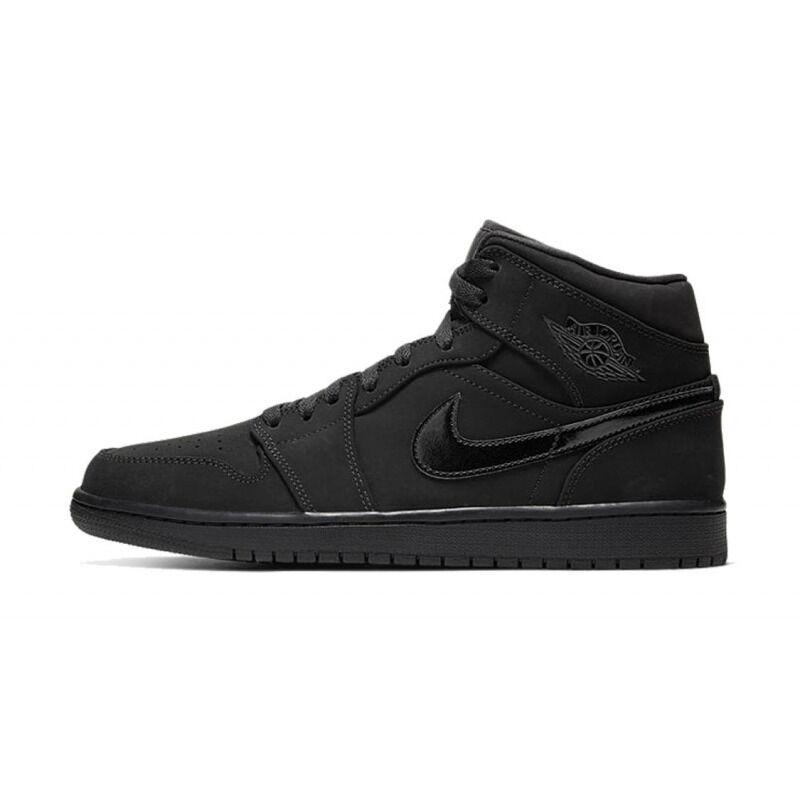 Air Jordan 1 Mid 'Triple Black' Black/Black/Black 籃球鞋/運動鞋 (554724-056) 海外預訂