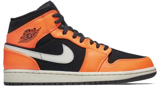 Air Jordan 1 Mid Orange Black 籃球鞋/運動鞋 (554724-062) 海外預訂