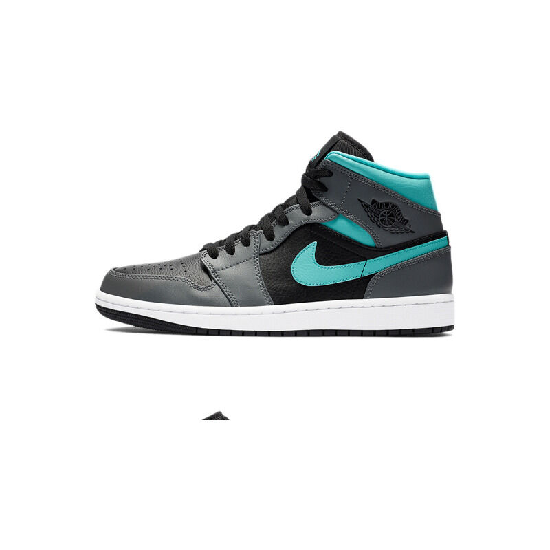 Air Jordan 1 Mid 'Grey Aqua' Black/Light Aqua/Dark Smoke Grey 籃球鞋/運動鞋 (554724-063) 海外預訂