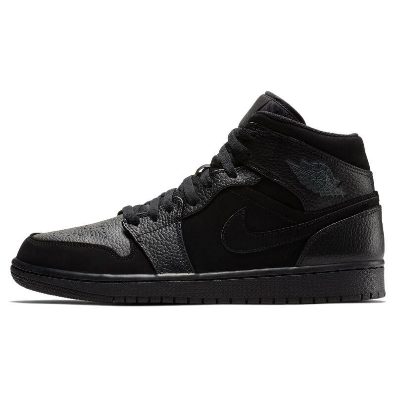 Air Jordan 1 Mid Black 籃球鞋/運動鞋 (554724-064) 海外預訂