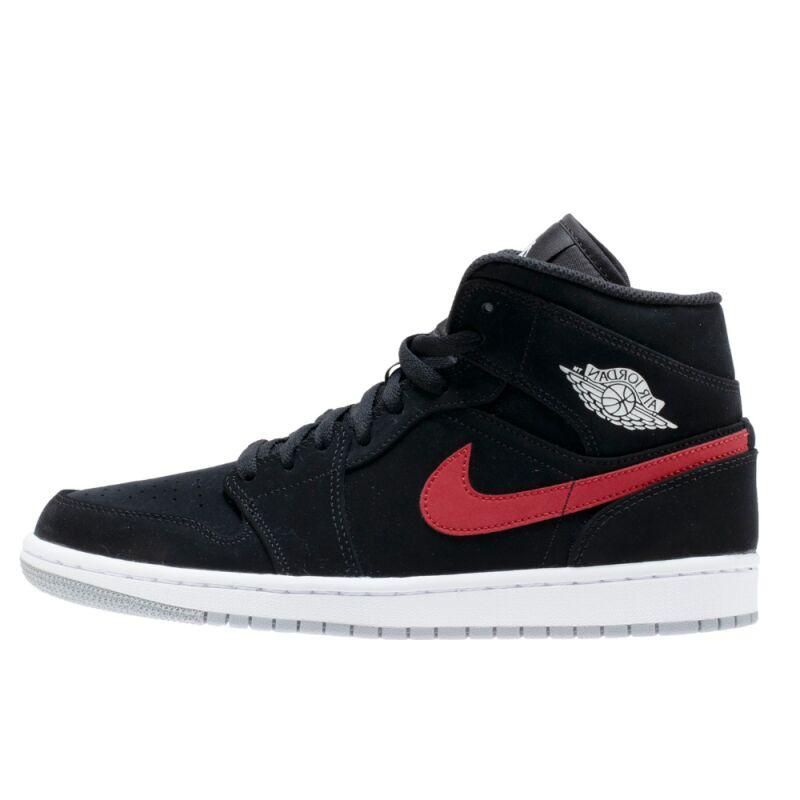 Air Jordan 1 Mid Black Red 籃球鞋/運動鞋 (554724-065) 海外預訂