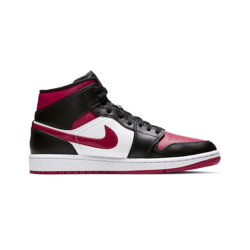 Air Jordan 1 Mid Black Noble Red 籃球鞋/運動鞋 (554724-066) 海外預訂