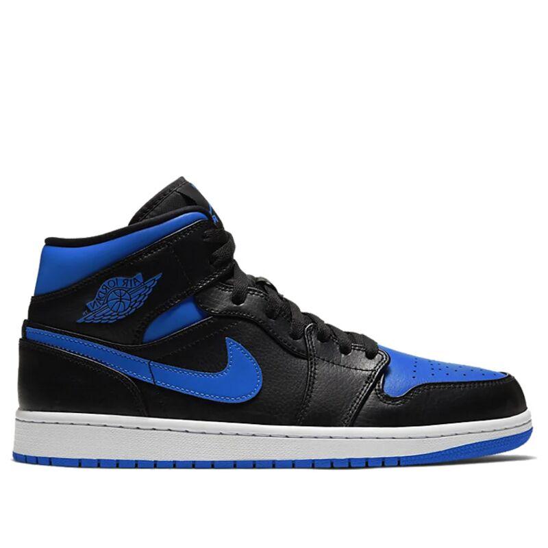 Air Jordan 1 Mid Black Hyper Royal 籃球鞋/運動鞋 (554724-068) 海外預訂