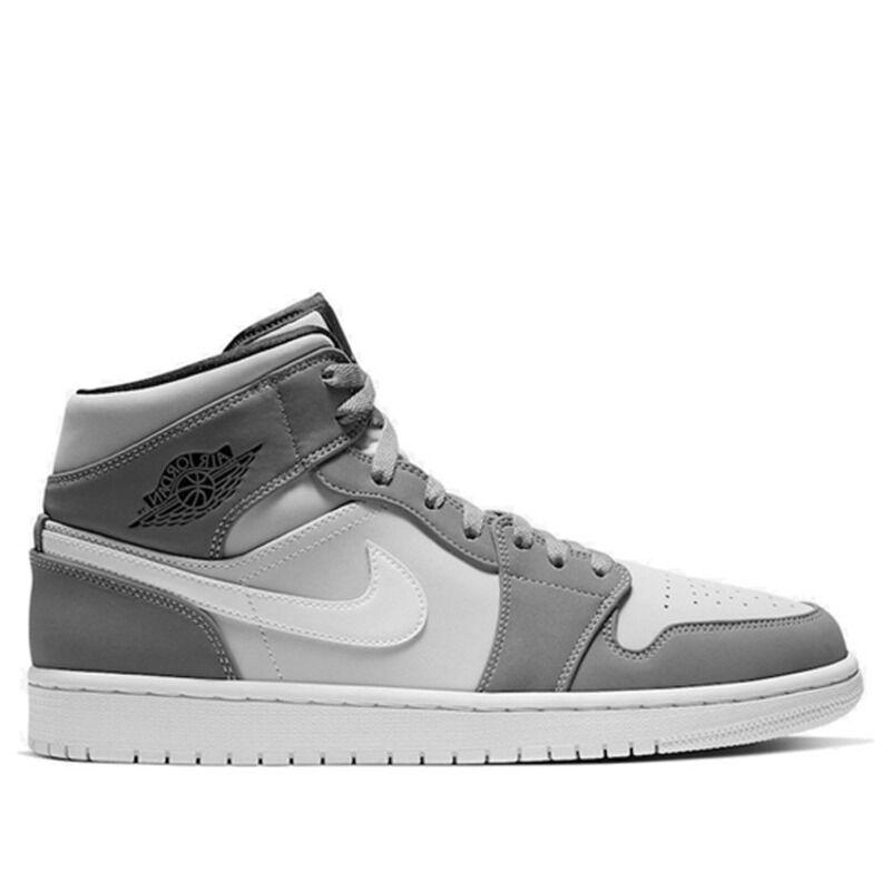 Air Jordan 1 Mid Grey Volt 籃球鞋/運動鞋 (554724-072) 海外預訂