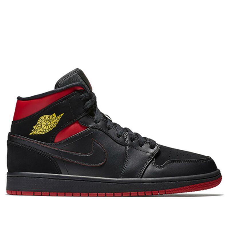 Air Jordan 1 Retro Mid Black Gym Red 籃球鞋/運動鞋 (554724-076) 海外預訂
