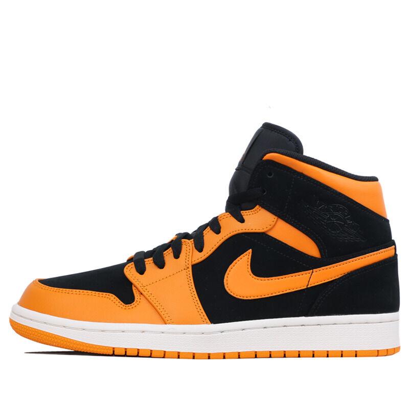 Air Jordan 1 Mid Black Orange Peel 籃球鞋/運動鞋 (554724-081) 海外預訂