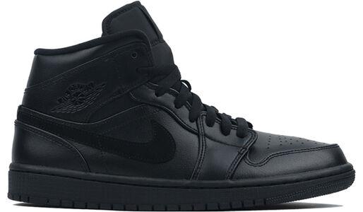 Air Jordan 1 Mid Triple Black 籃球鞋/運動鞋 (554724-090) 海外預訂