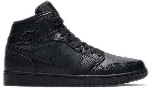 Air Jordan 1 Mid 'Triple Black' Black/Black/Black 籃球鞋/運動鞋 (554724-091) 海外預訂