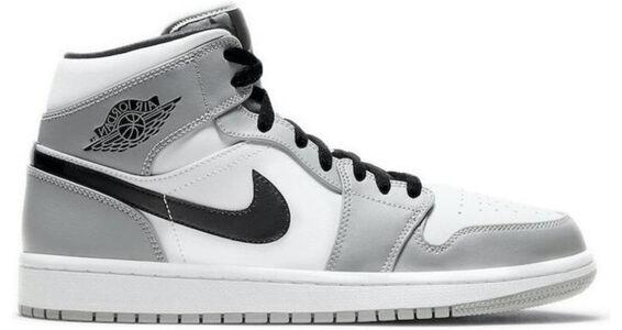 Air Jordan 1 Mid 'Smoke Grey' Light Smoke Grey/Black/White 籃球鞋/運動鞋 (554724-092) 海外預訂