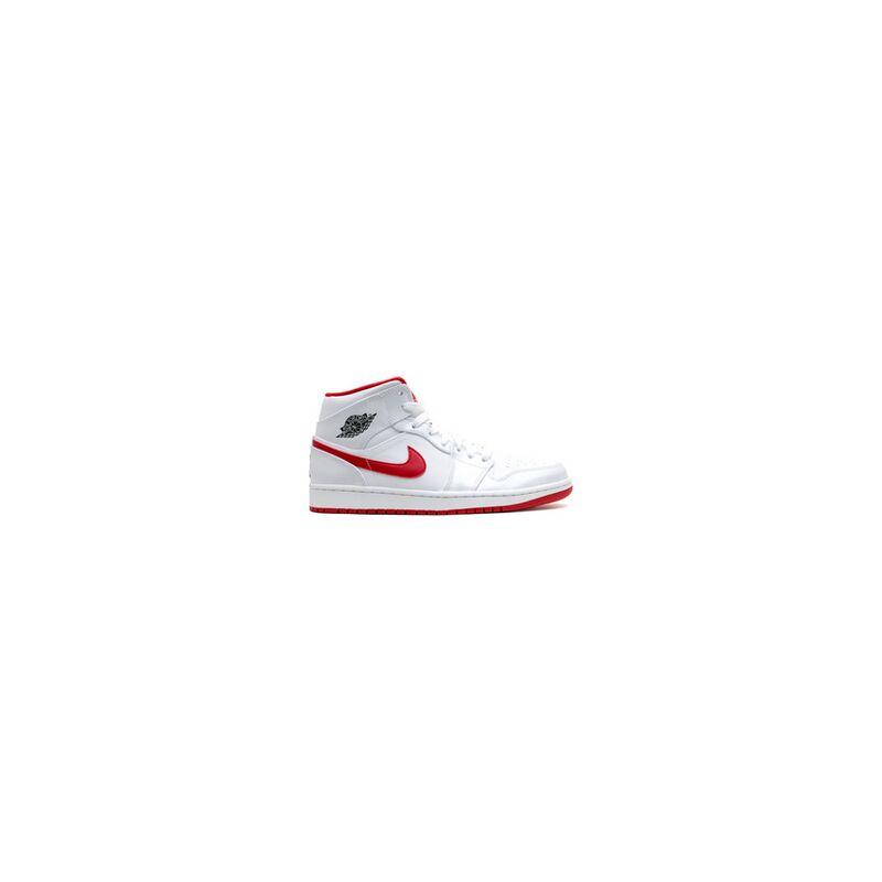 Air Jordan 1 Mid 'White Gym Red' White/Black-Gym Red 籃球鞋/運動鞋 (554724-101) 海外預訂