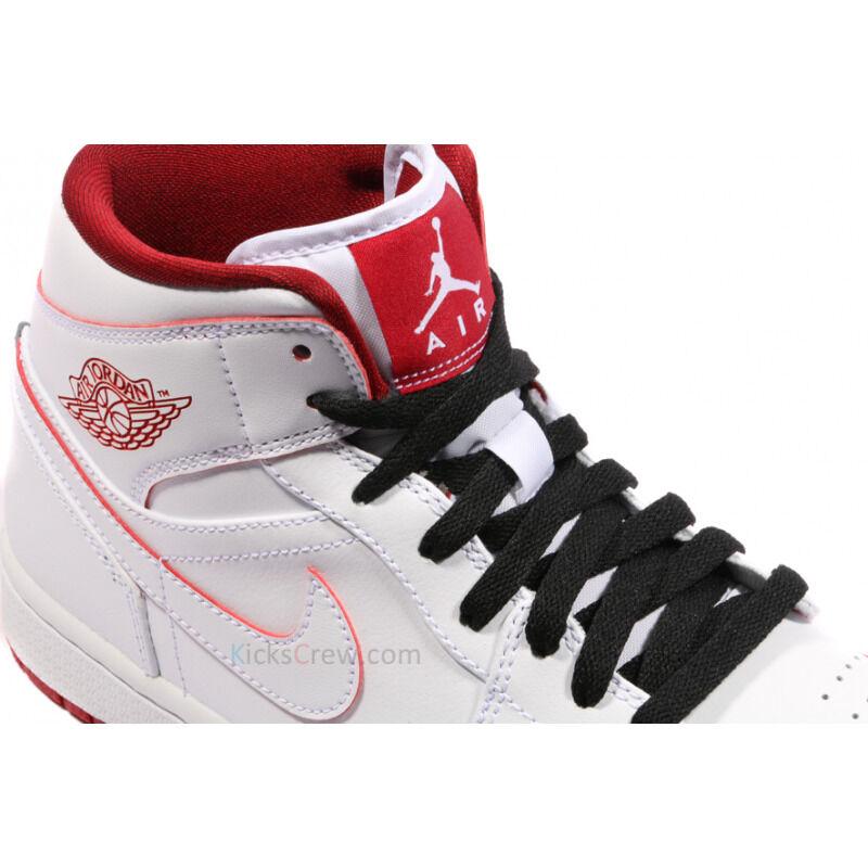 Air Jordan 1 Mid White Gym Red 籃球鞋/運動鞋 (554724-103) 海外預訂