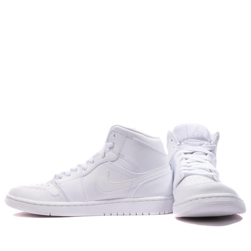 Air Jordan 1 Mid White 籃球鞋/運動鞋 (554724-104) 海外預訂