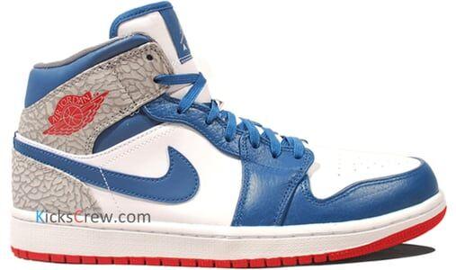 Air Jordan 1 Mid True Blue 籃球鞋/運動鞋 (554724-107) 海外預訂