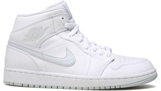 Air Jordan 1 Retro Mid 'White Platinum' White/Pure Platinum 籃球鞋/運動鞋 (554724-108) 海外預訂