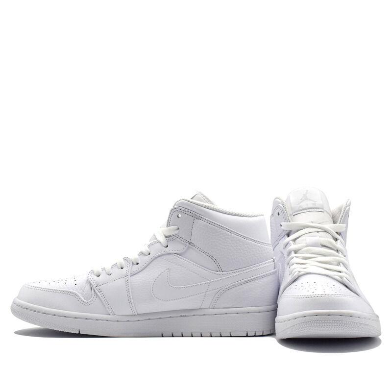Air Jordan 1 Mid Triple White 籃球鞋/運動鞋 (554724-109) 海外預訂