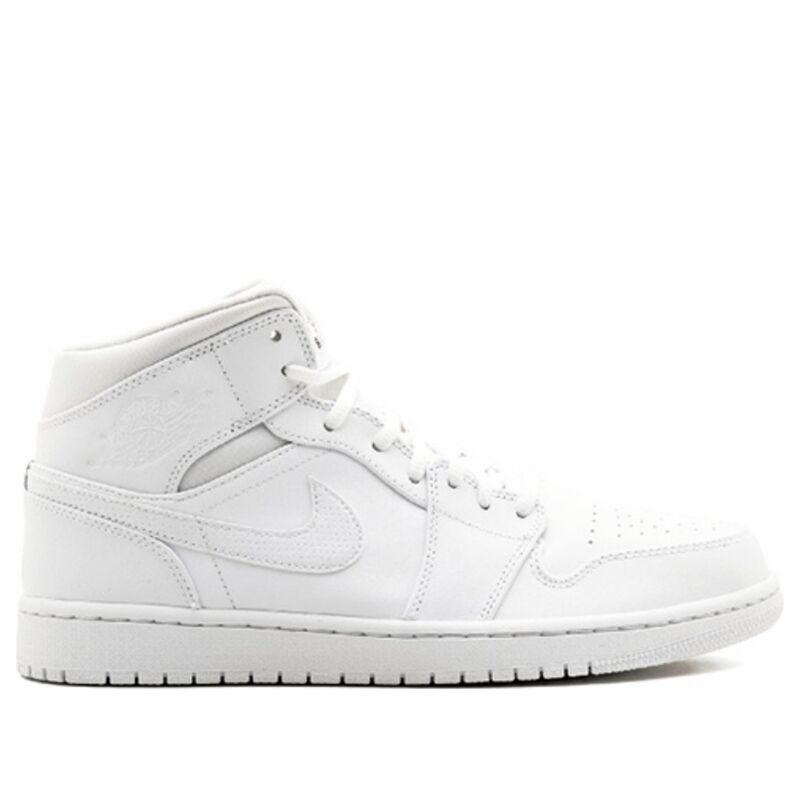 Air Jordan 1 Mid White 籃球鞋/運動鞋 (554724-110) 海外預訂