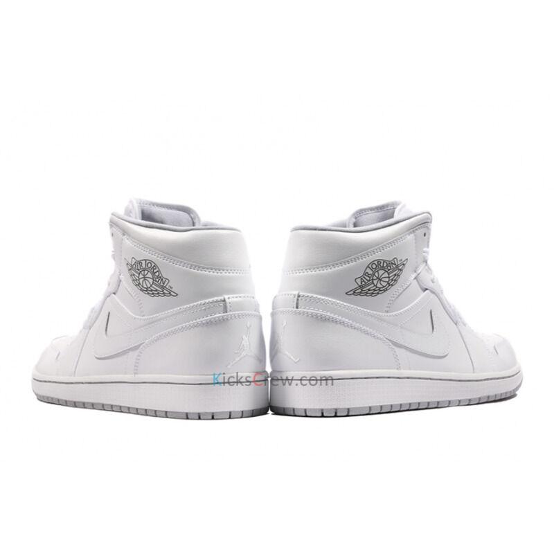 Air Jordan 1 Mid White Wolf Grey 籃球鞋/運動鞋 (554724-112) 海外預訂