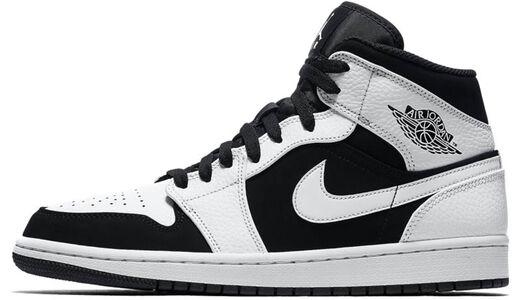 Air Jordan 1 Mid White Black 籃球鞋/運動鞋 (554724-113) 海外預訂