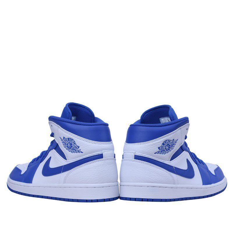 Air Jordan 1 Mid White Hyper Royal 籃球鞋/運動鞋 (554724-114) 海外預訂