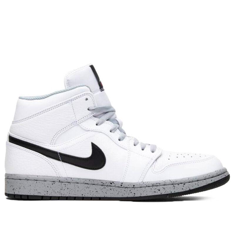 Air Jordan 1 Mid White Cement 籃球鞋/運動鞋 (554724-115) 海外預訂