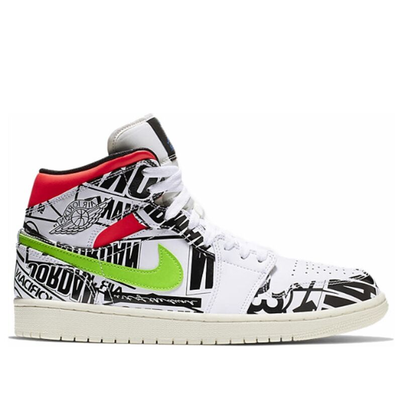 Air Jordan 1 Mid All-Over Logos 籃球鞋/運動鞋 (554724-119) 海外預訂