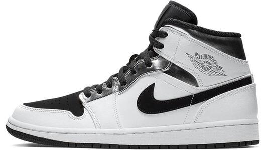 Air Jordan 1 Mid White Black Silver 籃球鞋/運動鞋 (554724-121) 海外預訂