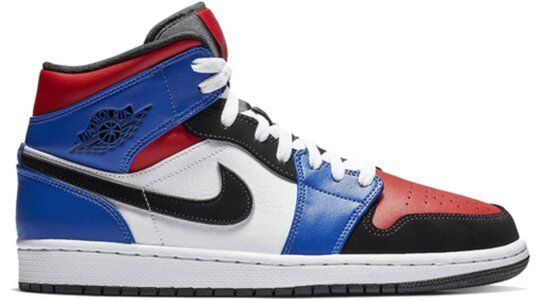 Air Jordan 1 Mid Top 3 籃球鞋/運動鞋 (554724-124) 海外預訂