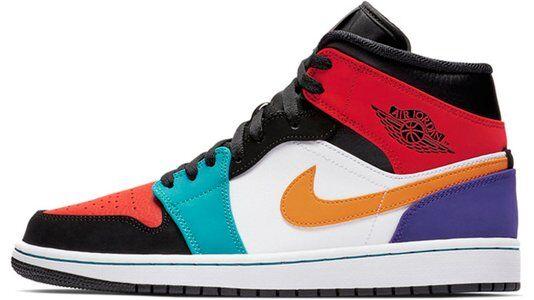 Air Jordan 1 Mid Multi Color 籃球鞋/運動鞋 (554724-125) 海外預訂