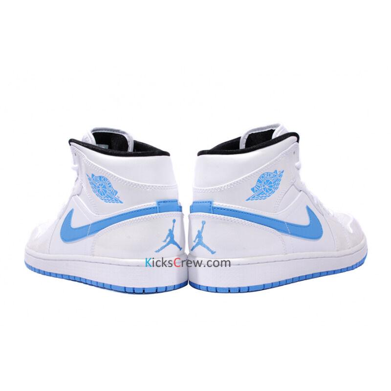Air Jordan 1 Mid White Legend Blue 籃球鞋/運動鞋 (554724-127) 海外預訂