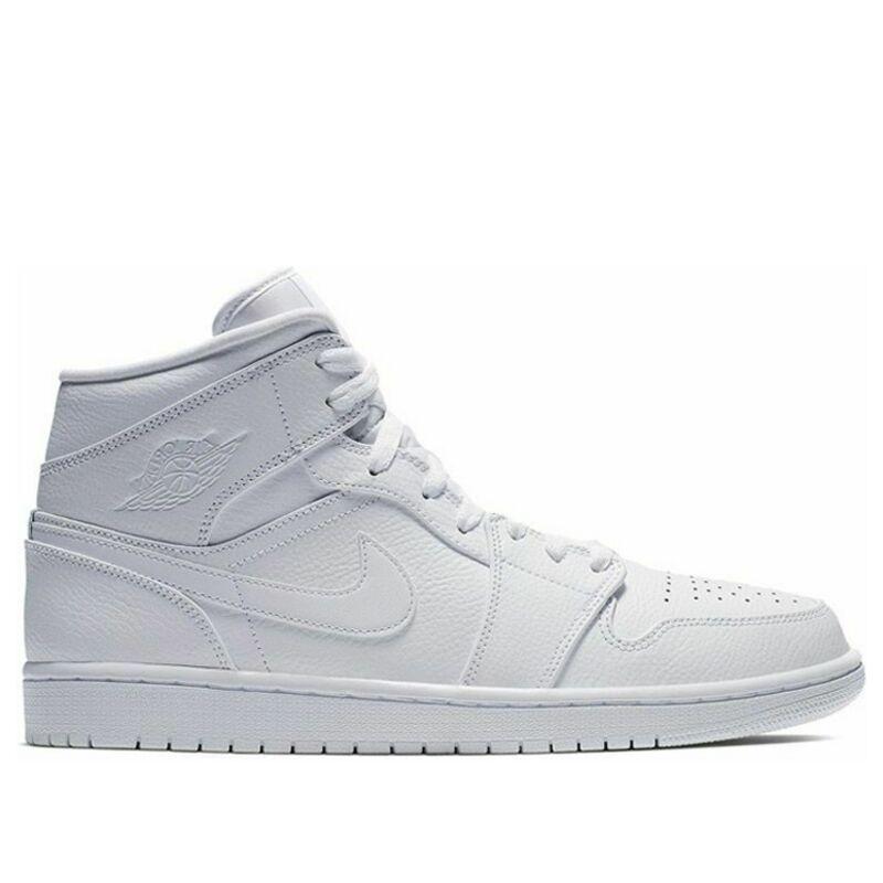 Air Jordan 1 Mid White 籃球鞋/運動鞋 (554724-129) 海外預訂