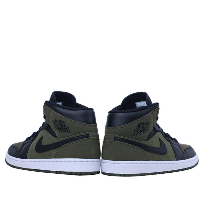 Air Jordan 1 Mid Olive Canvas Black 籃球鞋/運動鞋 (554724-301) 海外預訂