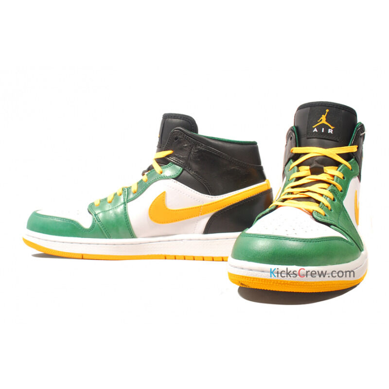 Air Jordan 1 Mid Gorge Green University Gold 籃球鞋/運動鞋 (554724-307) 海外預訂