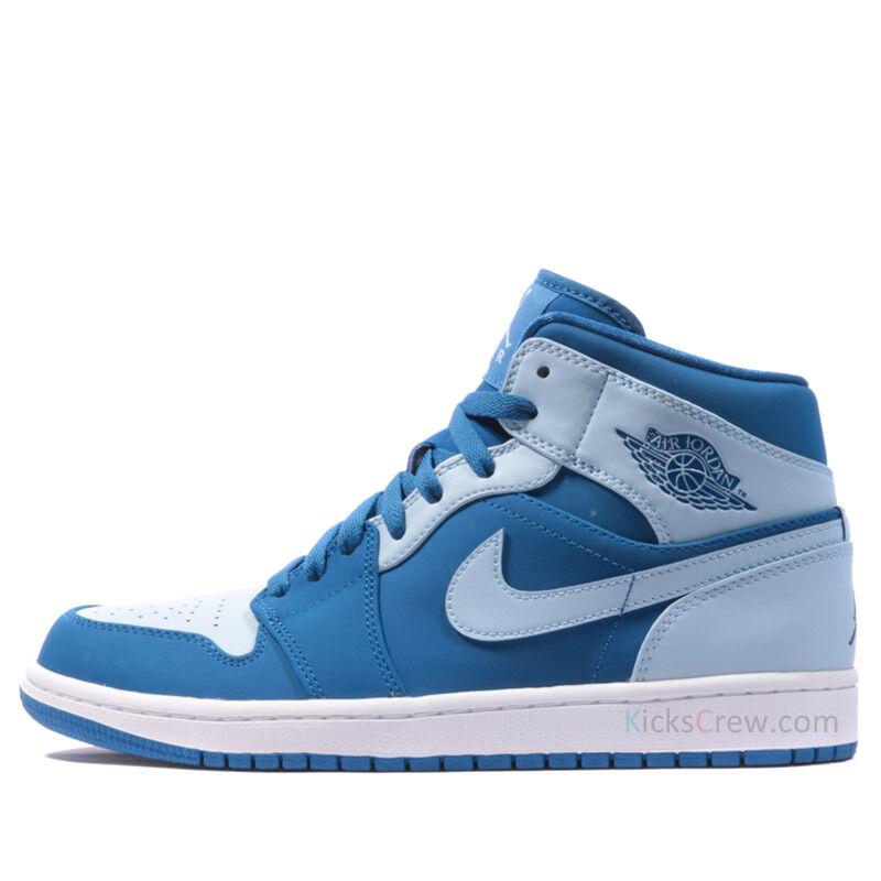 Air Jordan 1 Mid Team Royal/Ice Blue-White 籃球鞋/運動鞋 (554724-400) 海外預訂