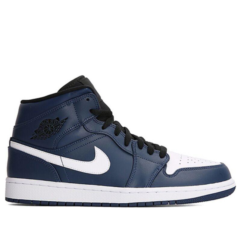 Air Jordan 1 Mid Obsidian White 籃球鞋/運動鞋 (554724-401) 海外預訂