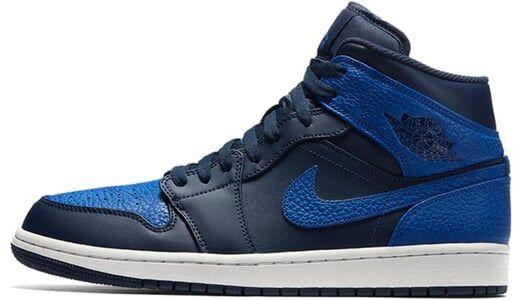 Air Jordan 1 Mid Obsidian 籃球鞋/運動鞋 (554724-412) 海外預訂