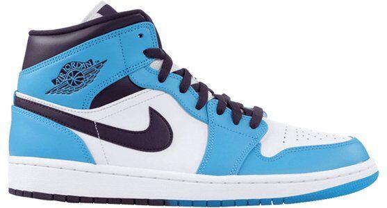 Air Jordan 1 Mid Sky Blue 籃球鞋/運動鞋 (554724-415) 海外預訂