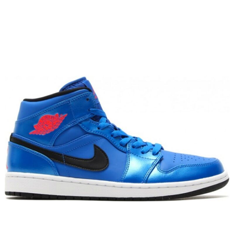 Air Jordan 1 Mid 'Sport Blue' Sport Blue/Infrared 23-Black 籃球鞋/運動鞋 (554724-423) 海外預訂