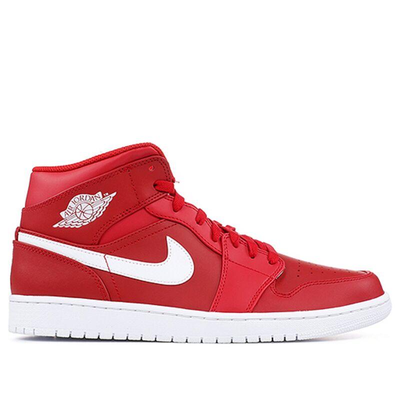 Air Jordan 1 Mid Red White 籃球鞋/運動鞋 (554724-600) 海外預訂