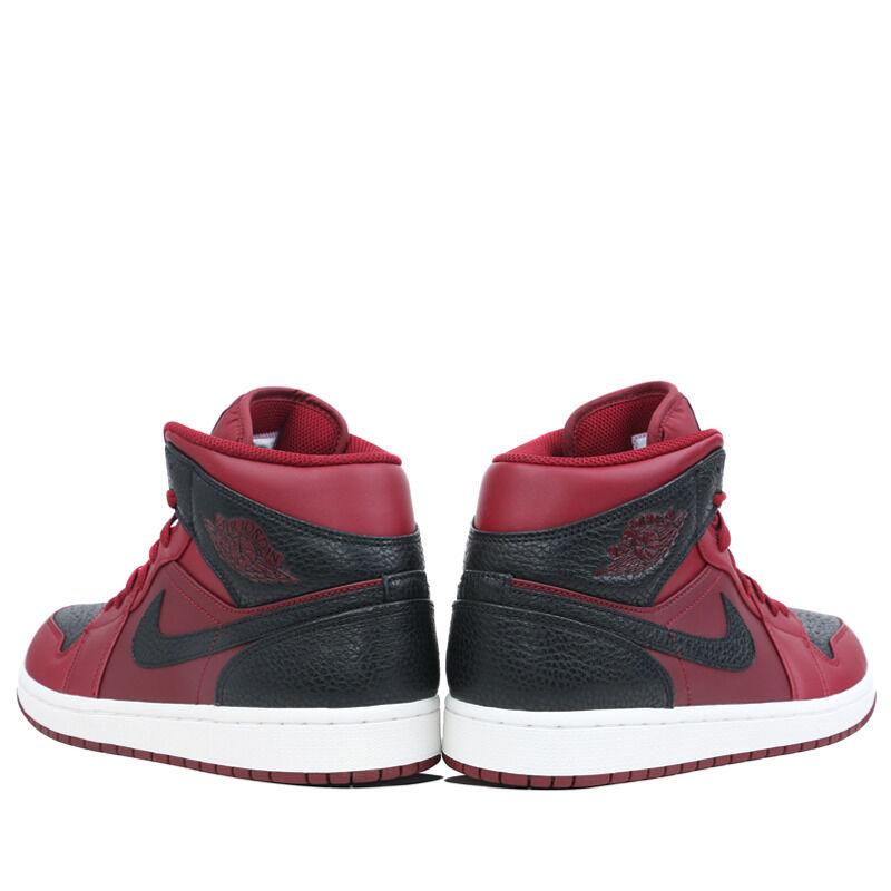 Air Jordan 1 Mid Team Red Black 籃球鞋/運動鞋 (554724-601) 海外預訂