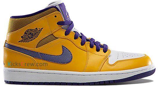 Air Jordan 1 Mid University Gold Grape Ice 籃球鞋/運動鞋 (554724-708) 海外預訂