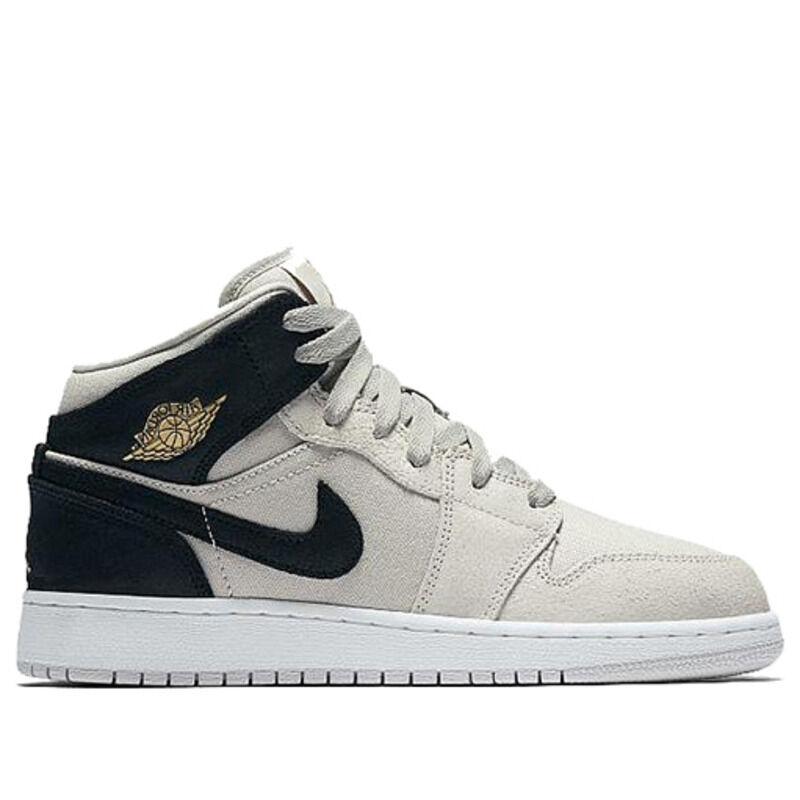 Air Jordan 1 Mid GS Light Bone 籃球鞋/運動鞋 (554725-023) 海外預訂