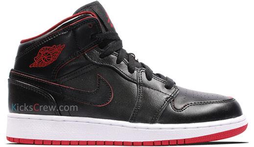Air Jordan 1 Mid BG Black Gym Red 籃球鞋/運動鞋 (554725-028) 海外預訂