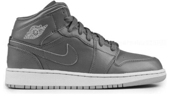 Air Jordan 1 Retro Mid'Cool Grey Wolf Grey' GS Cool Grey/Wolf Grey-White 籃球鞋/運動鞋 (554725-031) 海外預訂
