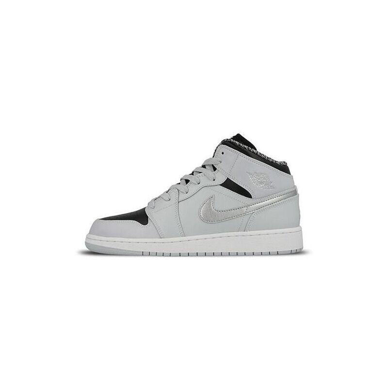 Air Jordan 1 Retro Mid'Pure Platinum' GS Pure Platinum/White-Metal 籃球鞋/運動鞋 (554725-032) 海外預訂
