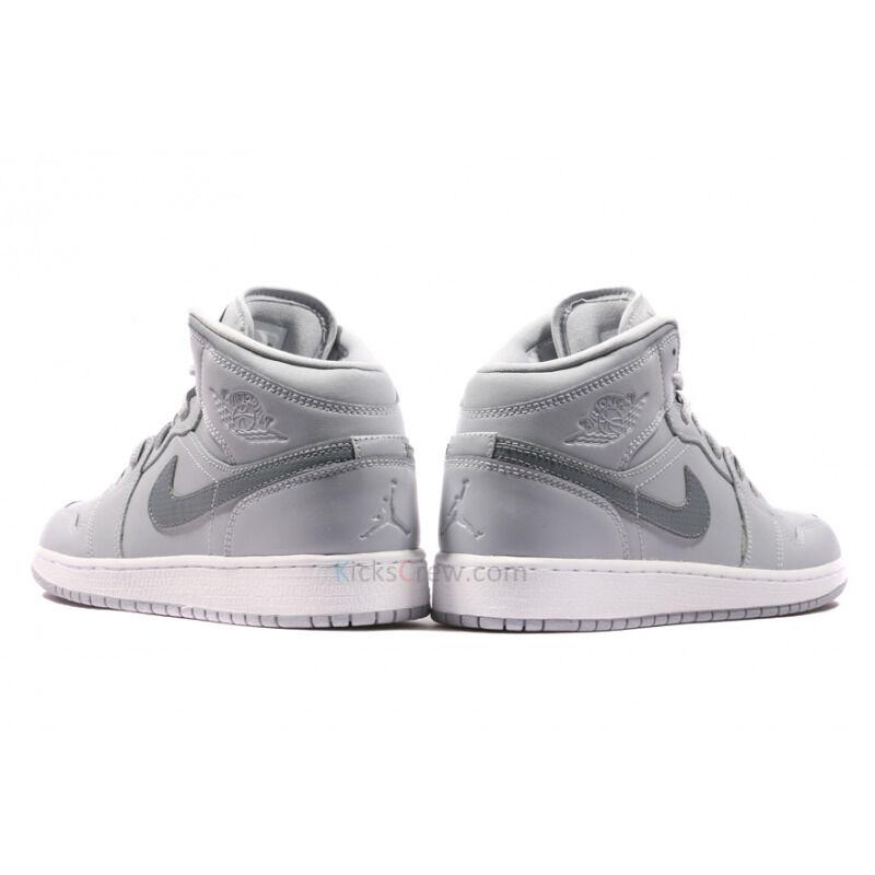 Air Jordan 1 Mid BG Wolf Grey 籃球鞋/運動鞋 (554725-033) 海外預訂