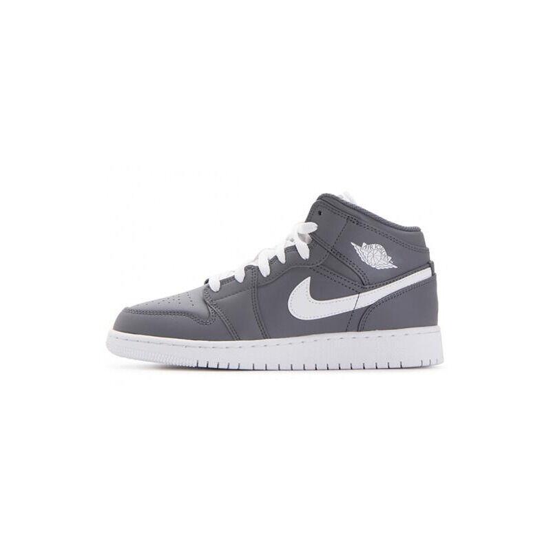 Air Jordan 1 Mid'Cool Grey' BG Cool Grey/White-White 籃球鞋/運動鞋 (554725-036) 海外預訂