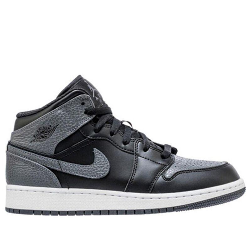 Air Jordan 1 Retro Mid'Black Dark Grey' GS Black/Dark Grey-Summit White 籃球鞋/運動鞋 (554725-041) 海外預訂